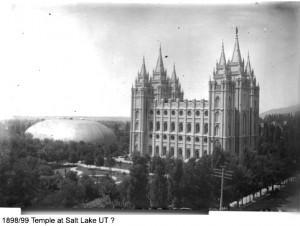 Salt Lake Mormon Temple 1898